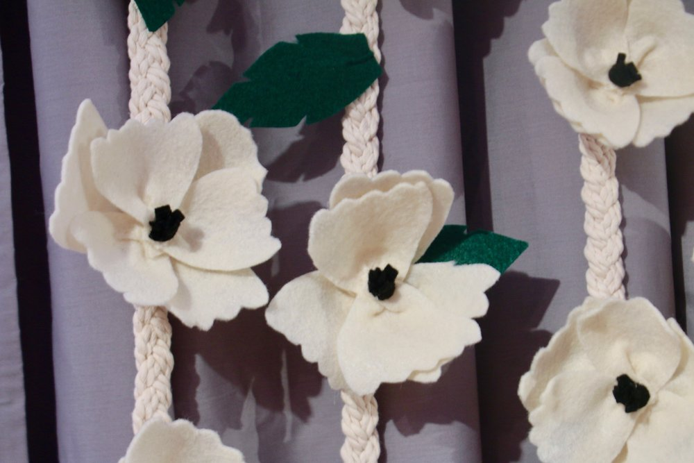 Tutoriel DIY facile de mobile / décoration murale à fleurs