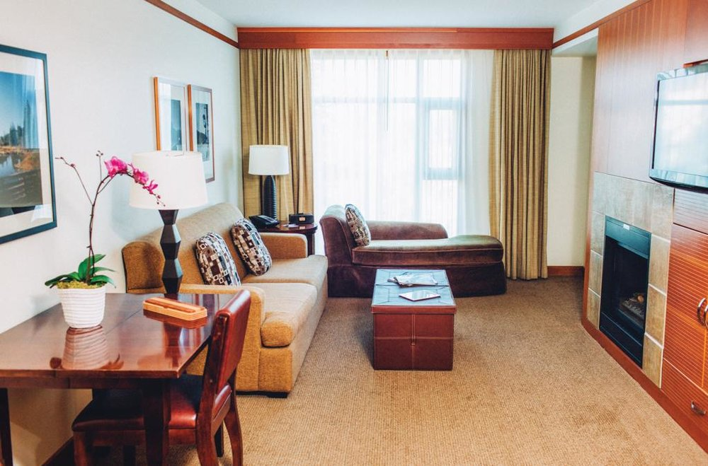 1 bedroom suite at the Pan Pacific Whistler Village while on conference with CPE Conferences