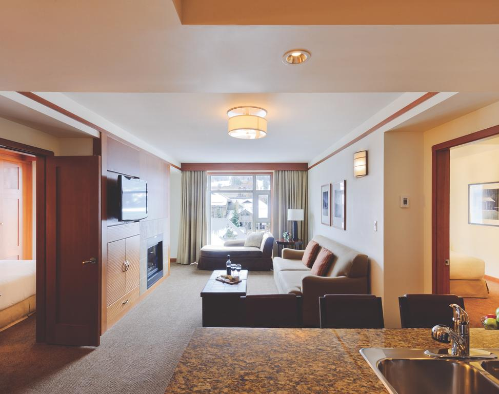2 bedroom suite at the Pan Pacific Whistler Village while on conference with CPE Conferences