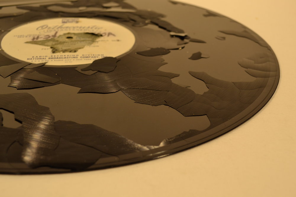 Delaminating Lacquer Glass Disc