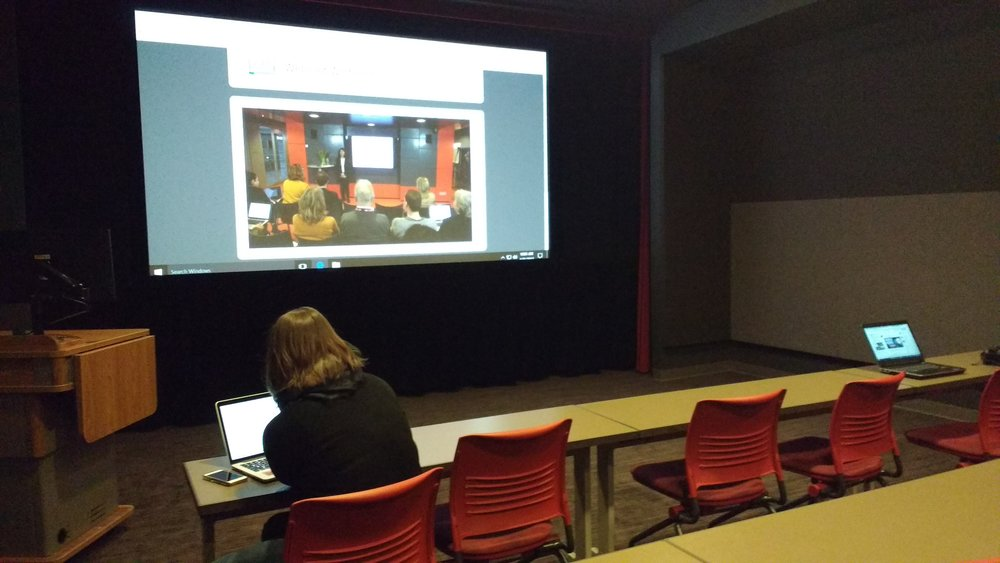 2017 Sound & Vision Winter School webinar at the IULMIA screening room