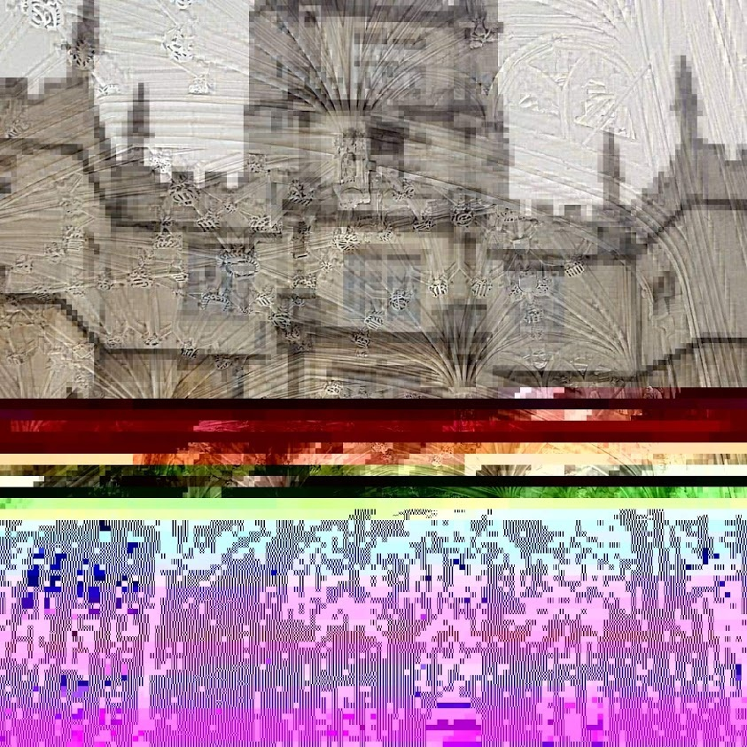 Corrupted photo of Old Bodleian at capture