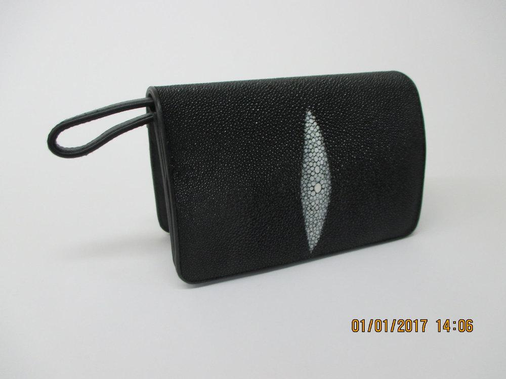 Red Stingray Wallet Purse Red Stingray Clutch Bag Stingray Leather Wristlet