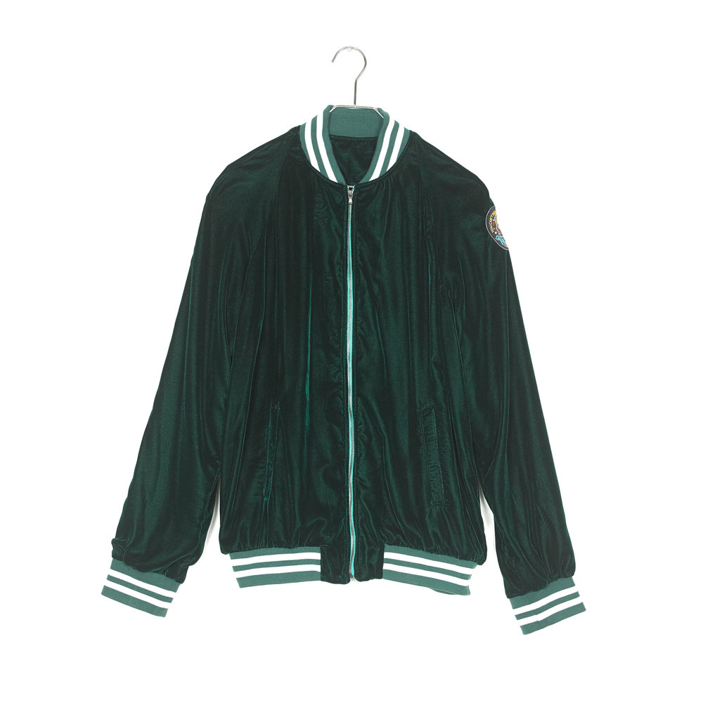 green velvet track suit jacket mused