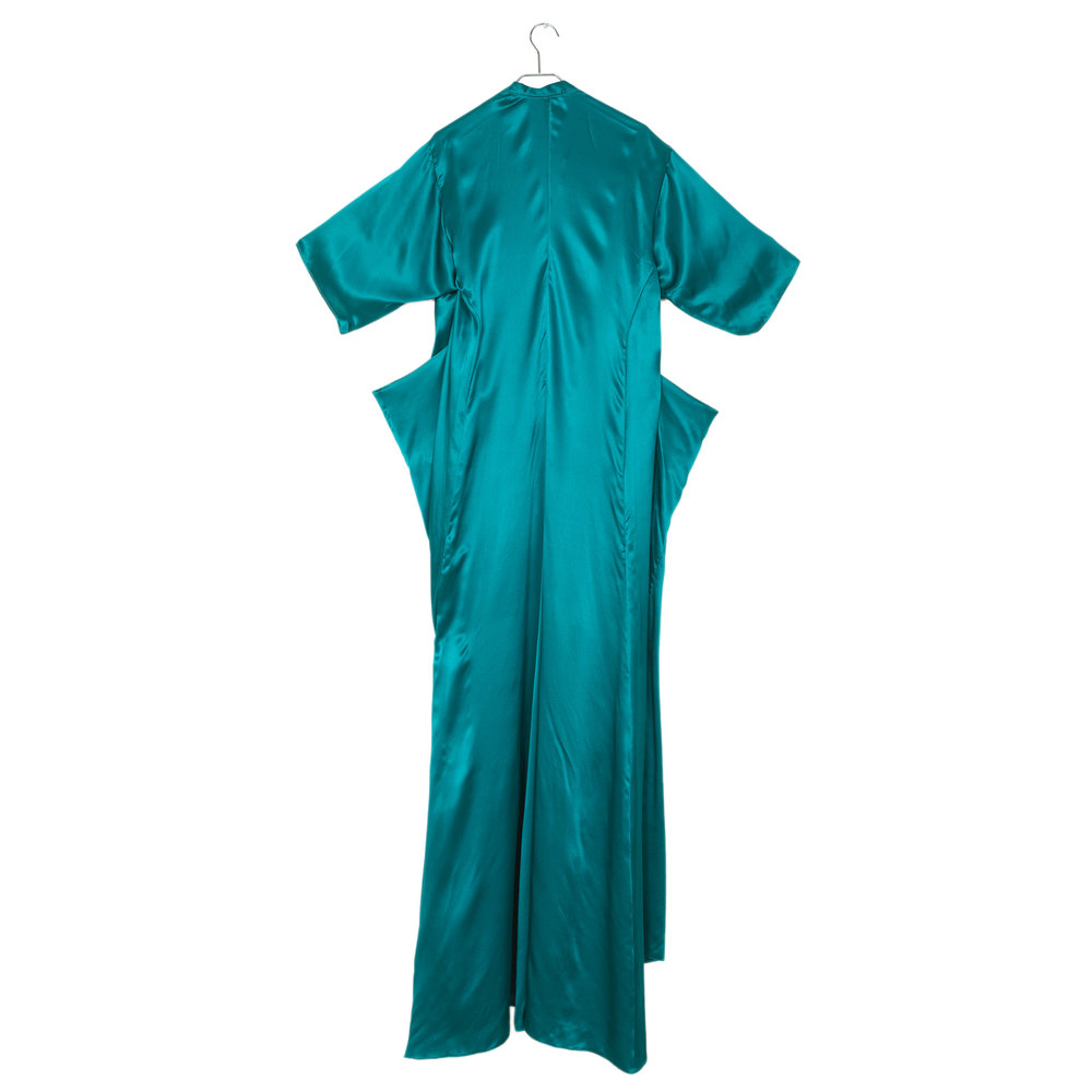 Teal Boxer Wrap Gown — Mused