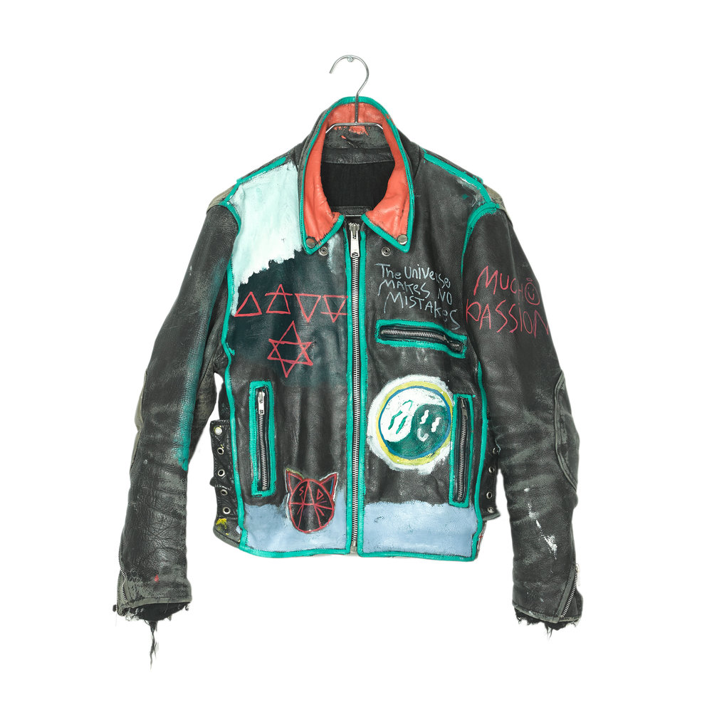 Vintage Painted Leather Jacket<br>$500