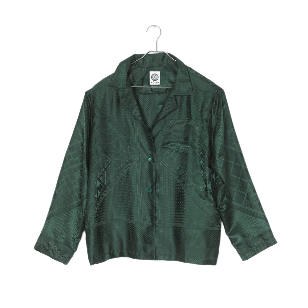 Emerald Pajama Day Top<br>$320