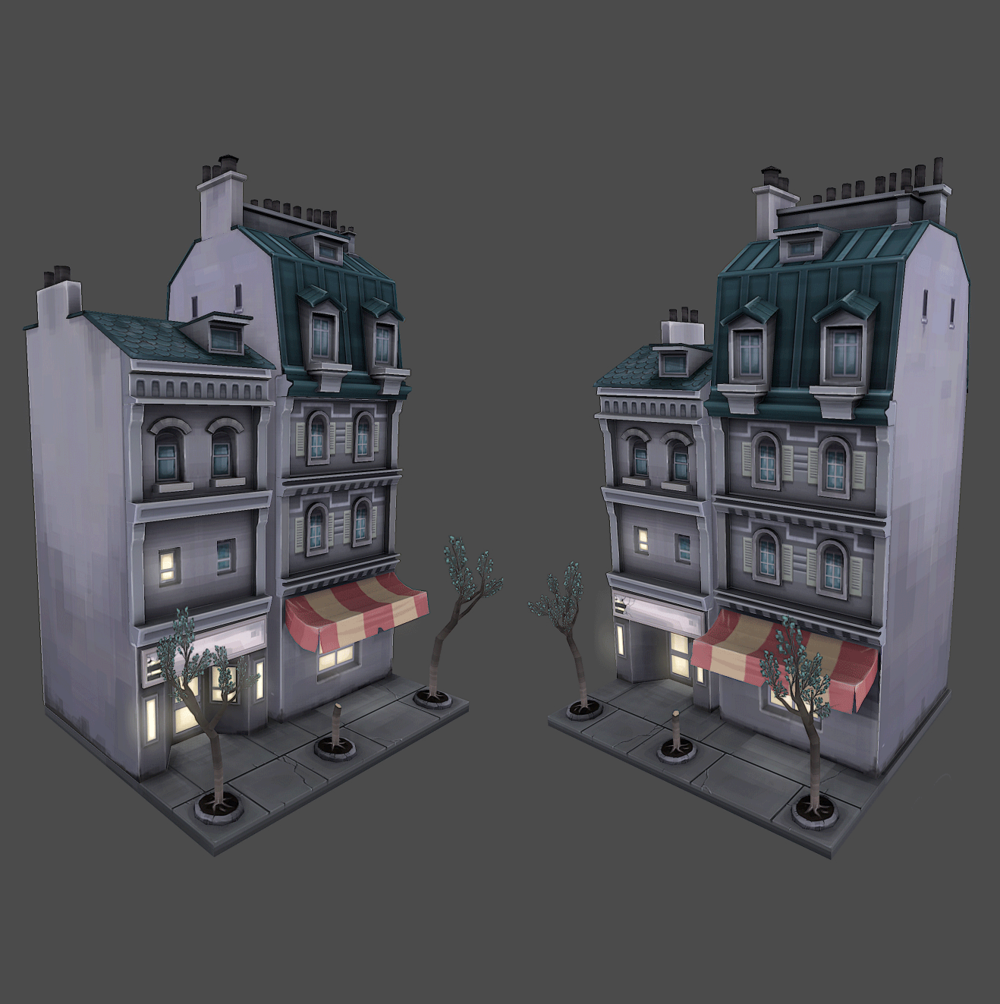 Low Poly Apartments (3D)