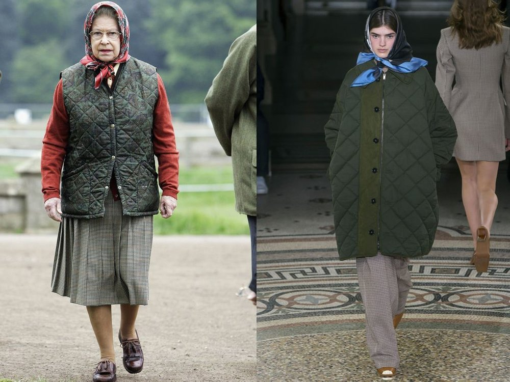 The Queen as our style muse Stella McCartney country quilting AW18.jpg
