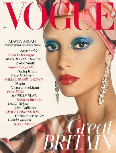 Vogue Dec 2017, Adwoa Aboah wearing Stephen Jones.jpg