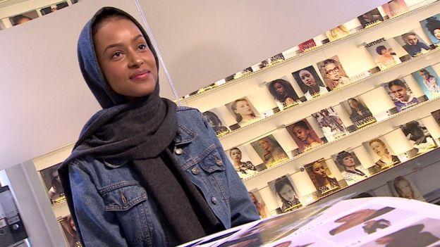Shahira Yusuf has been signed to major modelling agency Storm, BBC News.jpg