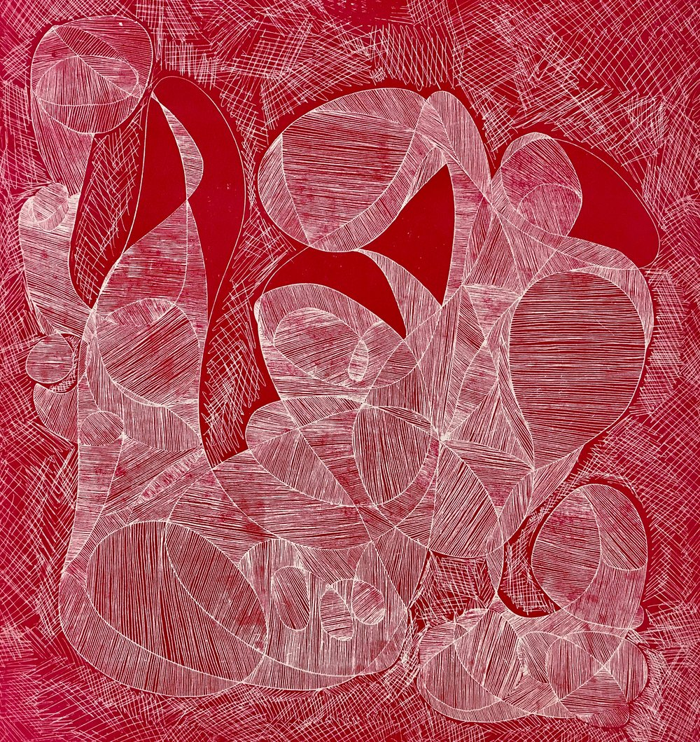A very old etching printed on lino in bright Magenta.jpg