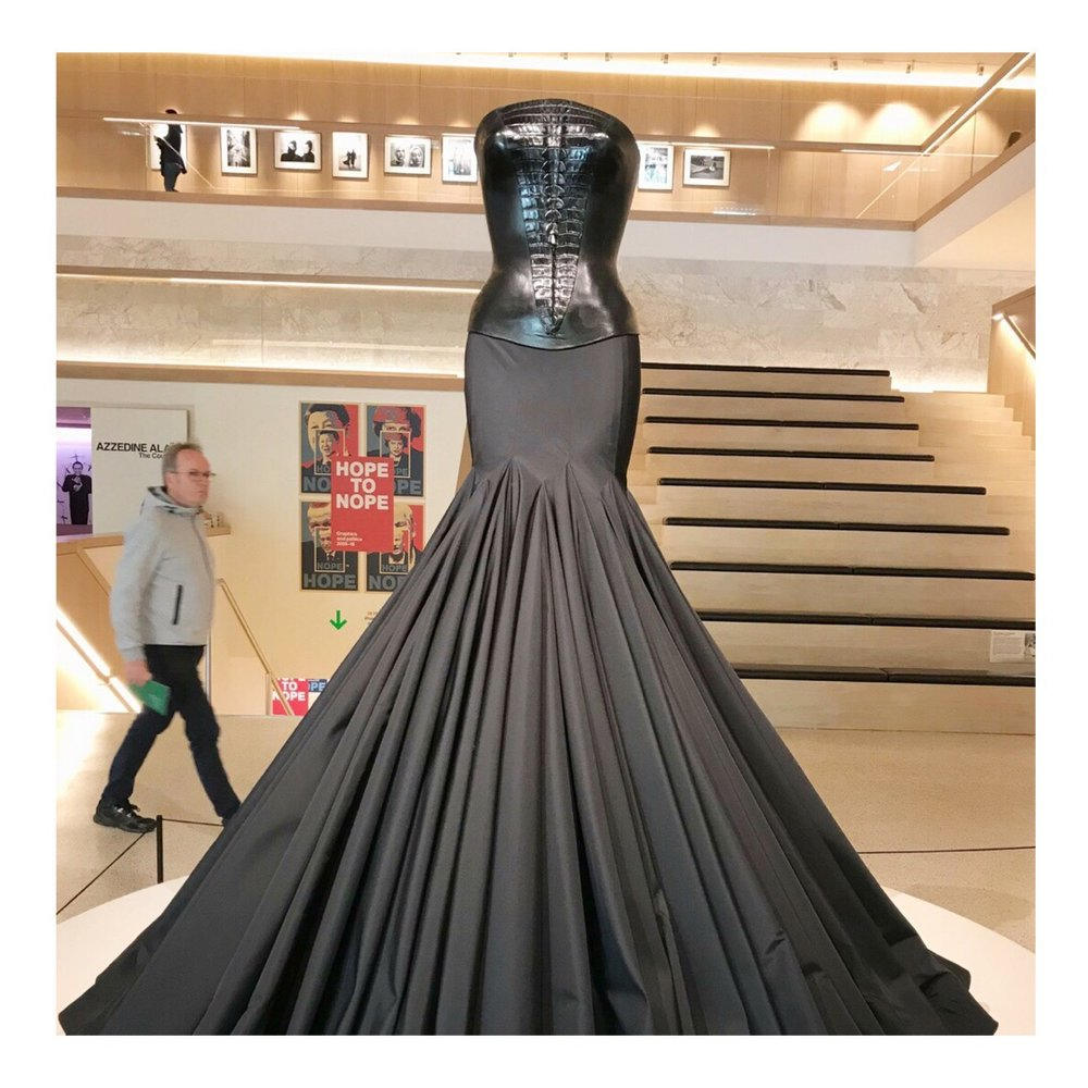 Azzedine Alaia at the Design Museum 'Je Suis Couturier'.JPG