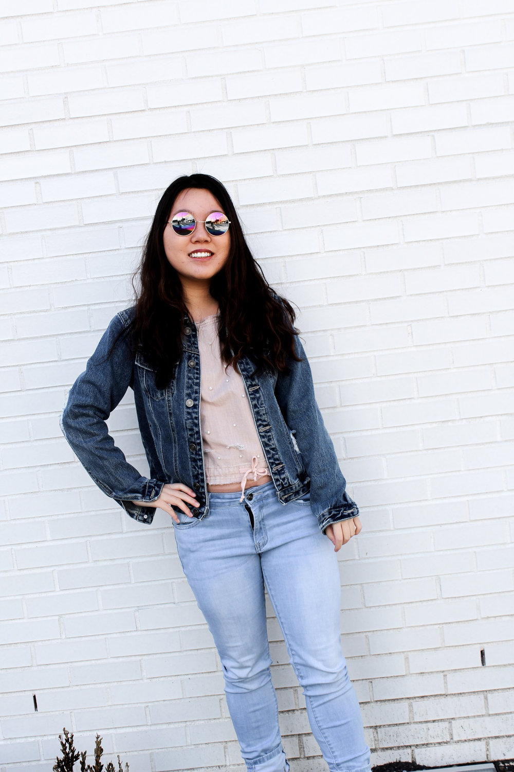 These rainbow shades turn a casual outfit into a badass look fit for the streets! - Amber Hsu