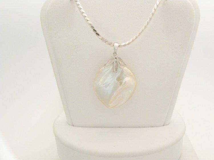 Sterling silver mabe pearl pendant furnari jewelers sterling silver mabe pearl pendant aloadofball Gallery