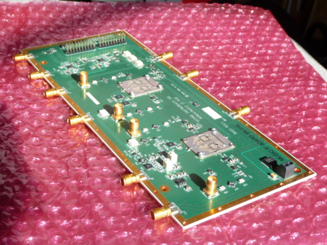 MUSIC IF - Intermediate frequency board. Provides local oscillator generation, clock generation, quadrature frequency upmixing and downmixing, settable attenuation in the 2 to 6.8 GHz range. Used for Kinetic Inductance Detector systems.schematicPrice: $3500 Qty in stock: 2