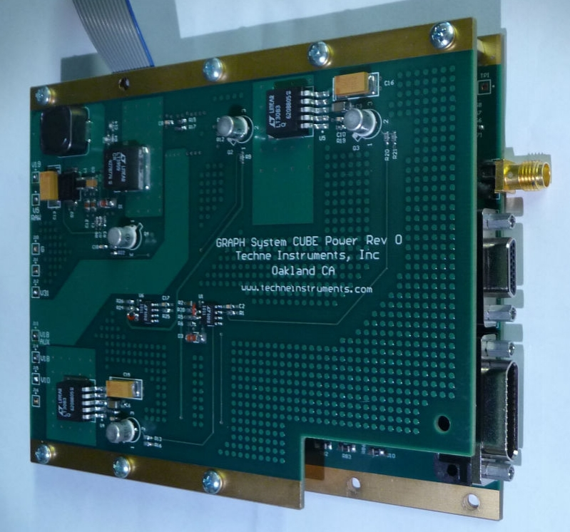Cubesat Digitizer - Designed and built for Jet Propulsion Lab, this system incorporates a 2 gigasample/sec A/D converter with a Zynq system-on-chip to make a digital