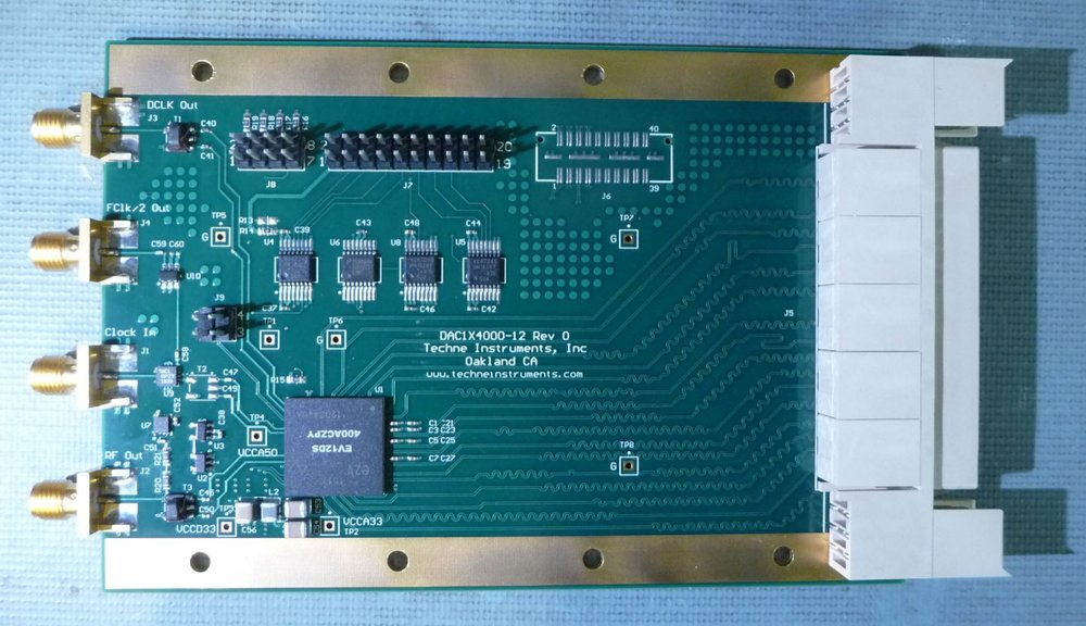 DAC1X4500-12 - One channel of D/A conversion at up to 4500MSPS, 12 bit resolution, occupies one ZDOK connector.Test ReportPrice: $3000 Qty in stock: 3