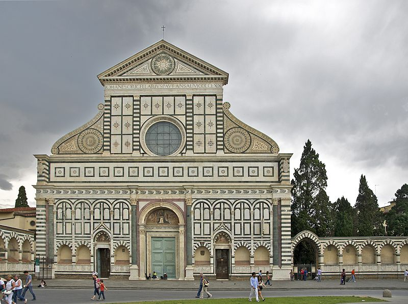 The Santa Maria Novella in Florence, public domain