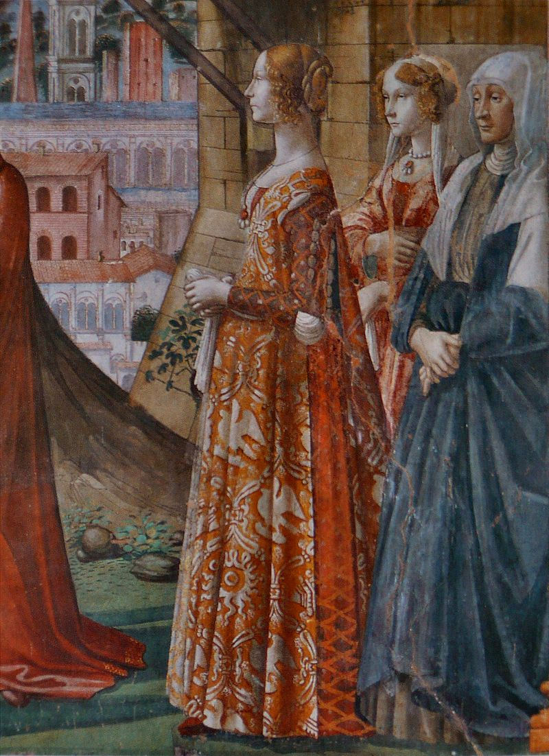 Detail of  The   Visitation , Domenico Ghirlandaio, public domain