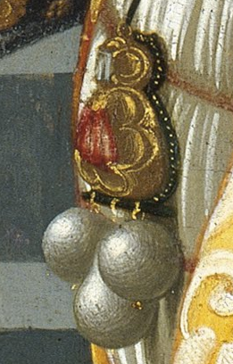 Detail from  Portrait of Giovanna Tornabuoni
