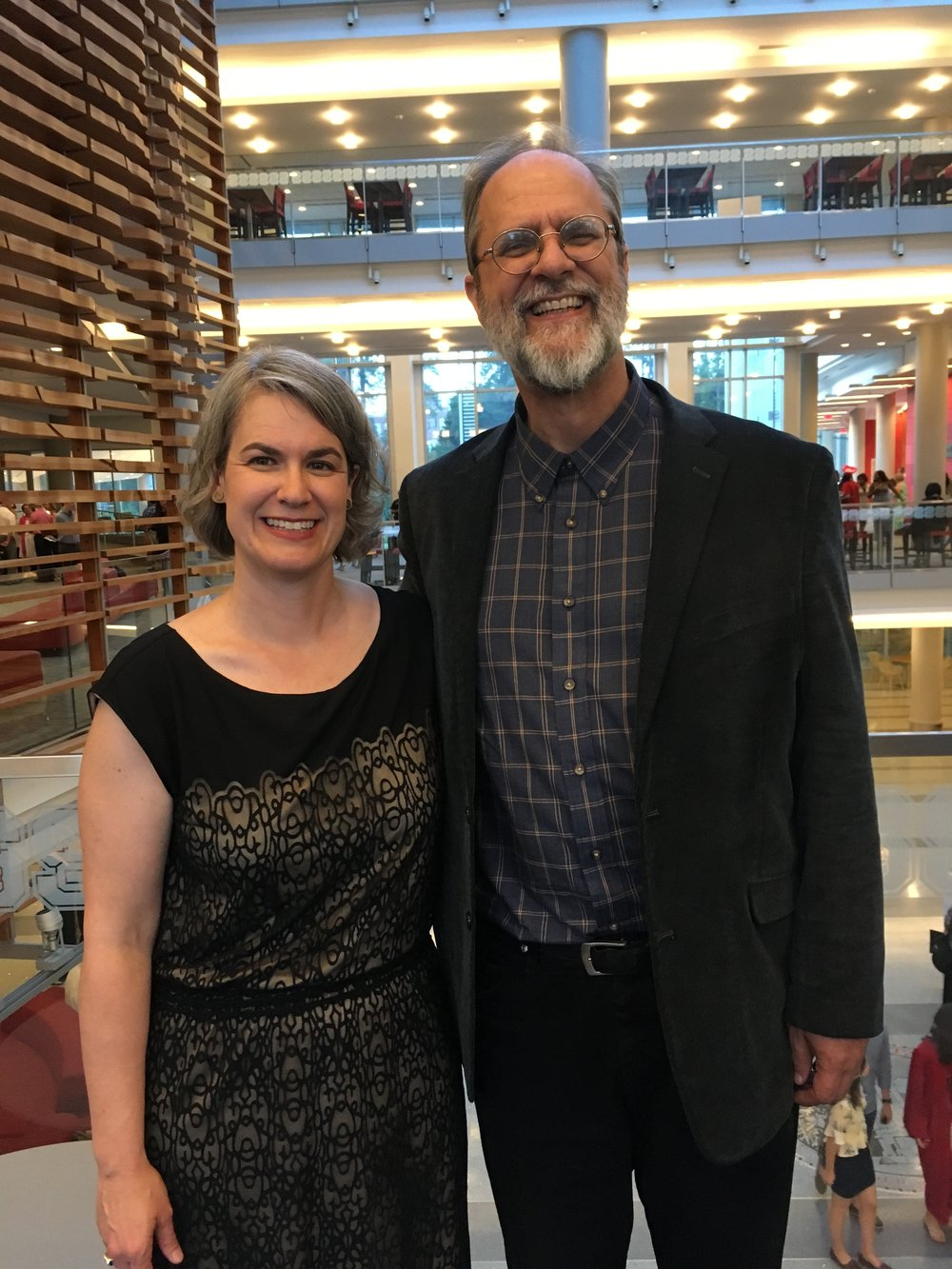 Caroline Armijo and Dr. Rodney Waschka II, Director of Art Studies
