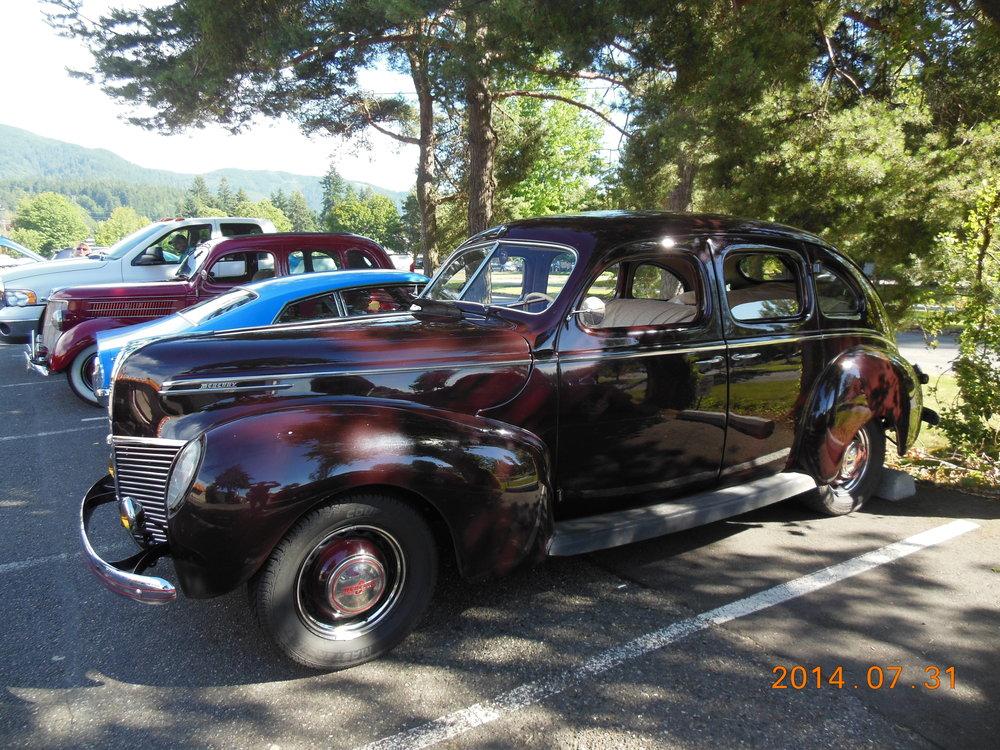 Bill Michler and Sandy Looney - 1939 Mercury 4-door Sedan