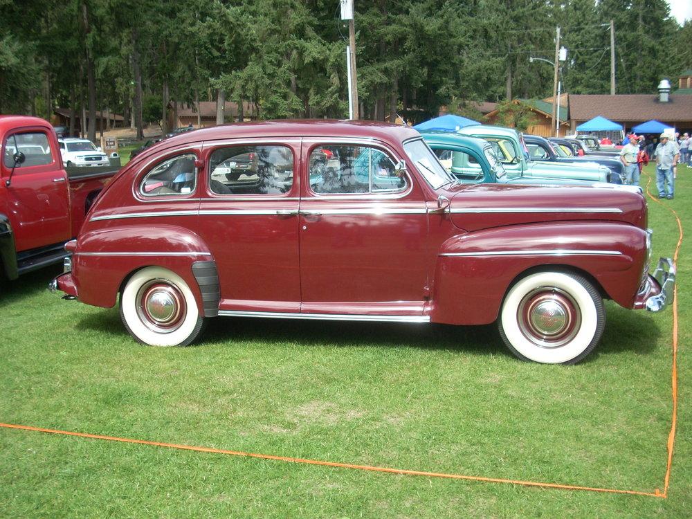 Ken and Betty Severa - 1946 Ford 4-Door Deluxe Sedan