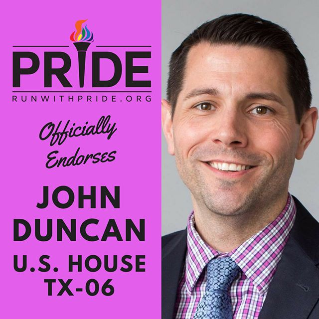 Run with Pride officially endorses John Duncan for Congress!