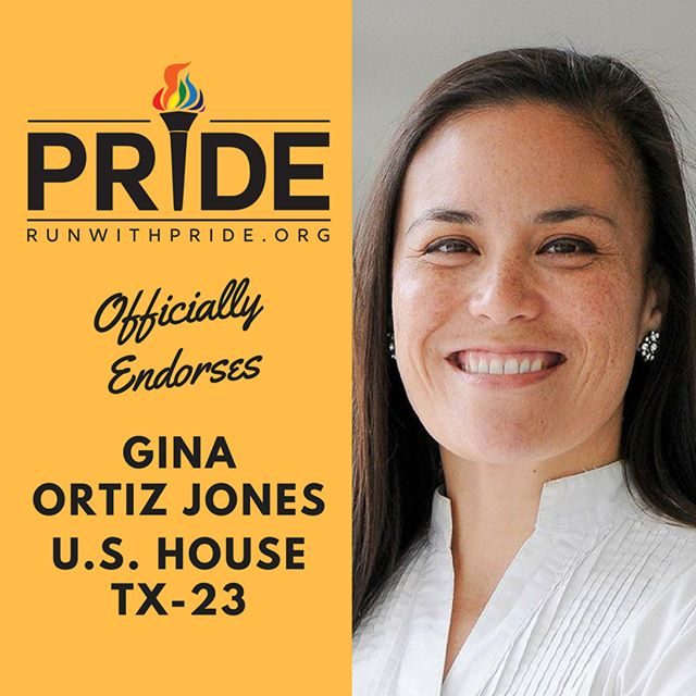Run with Pride officially endorses Gina Ortiz Jones for Congress!
