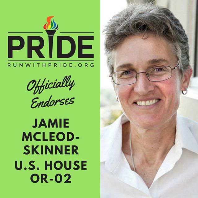 Run with Pride officially endorses Jamie McLeod-Skinner for Congress!