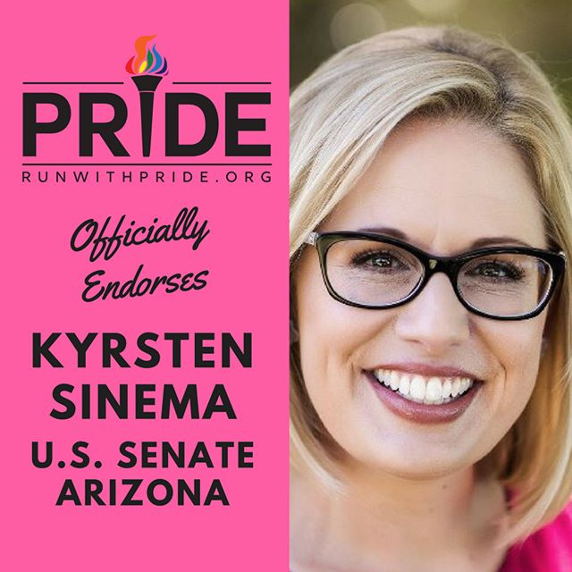 Run with Pride officially endorses Krysten Sinema for Congress!