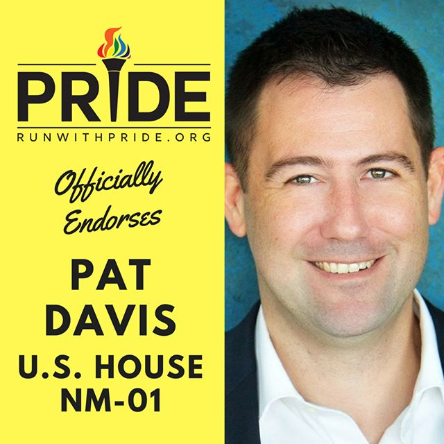 Run with Pride officially endorses Pat Davis for Congress!