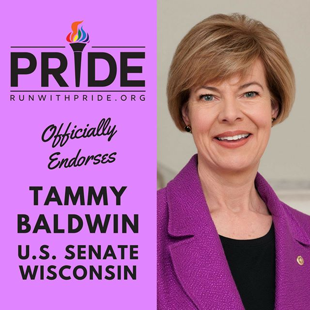 Run with Pride officially endorses Tammy Baldwin for Congress!