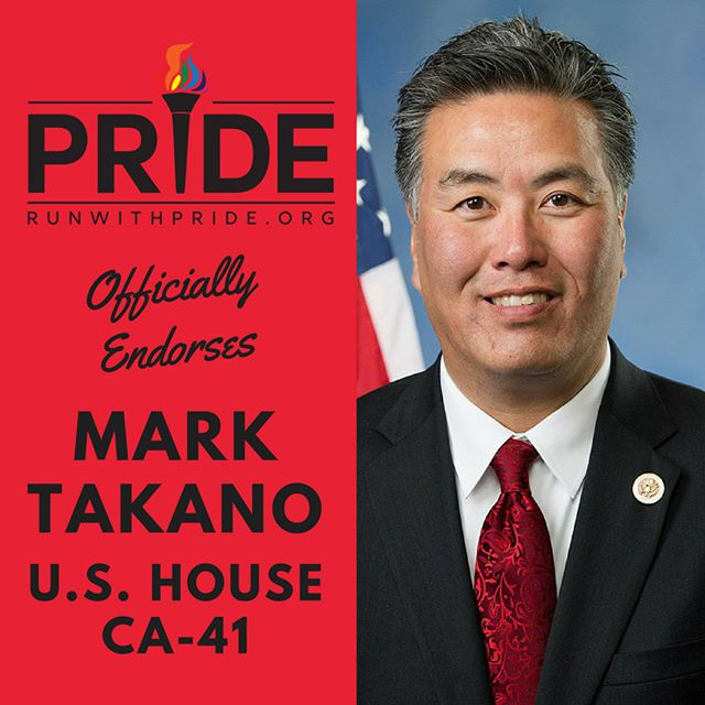 Run with Pride officially endorses Mark Takano for Congress!