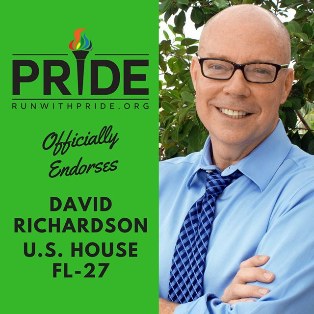 Run with Pride officially endorses David Richardson for Congress!