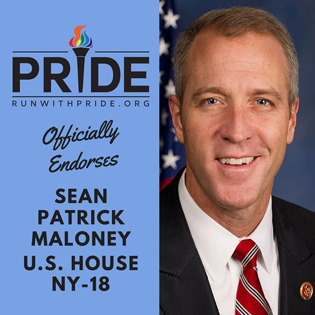 Run with Pride officially endorses Sean Patrick Maloney for Congress!