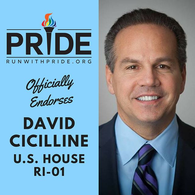 Run with Pride officially endorses David Cicilline for Congress!