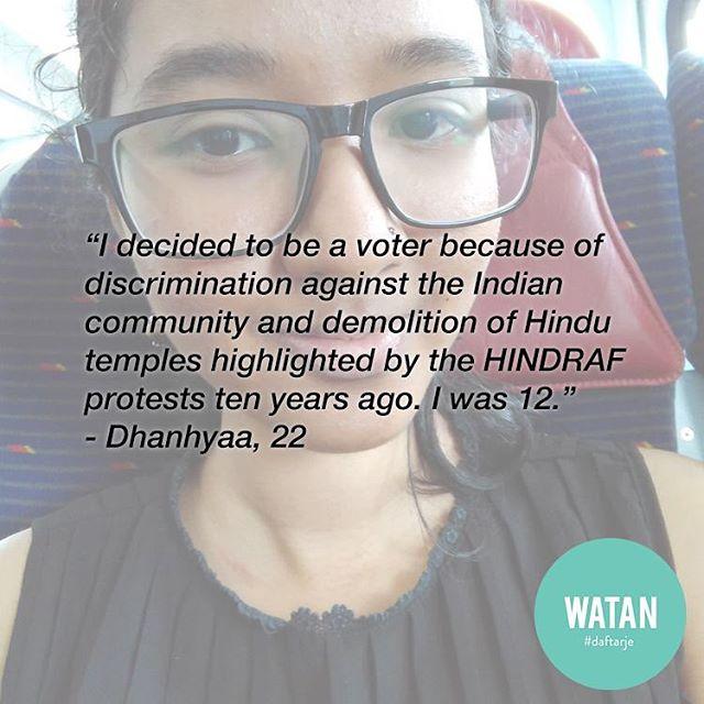 Dhanhyaa berputus menjadi pengundi muda sejak dia berumur 12 tahun lagi. Kini, suaranya akan turut dikira dalam setiap pilihanraya akan datang. Jom ke pejabat pos dan daftar mengundi! ⠀ ⠀ http://watanku.org/stories  #daftarje