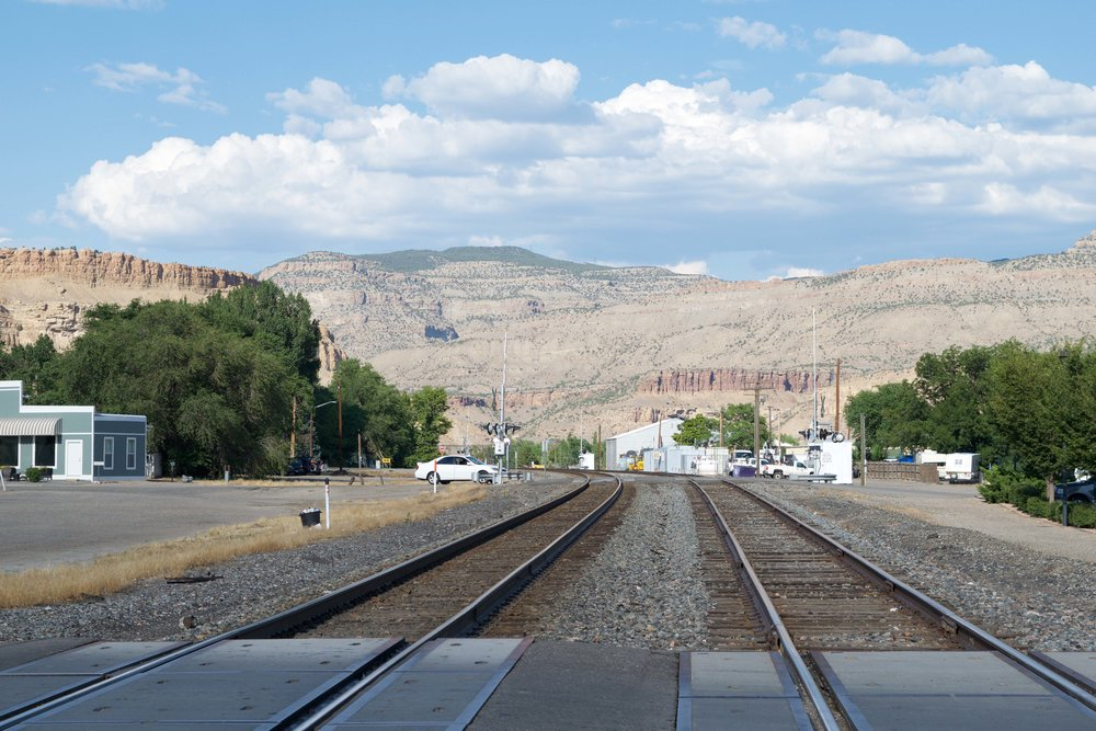 The train runs right through Palisade and makes the whole town shake.
