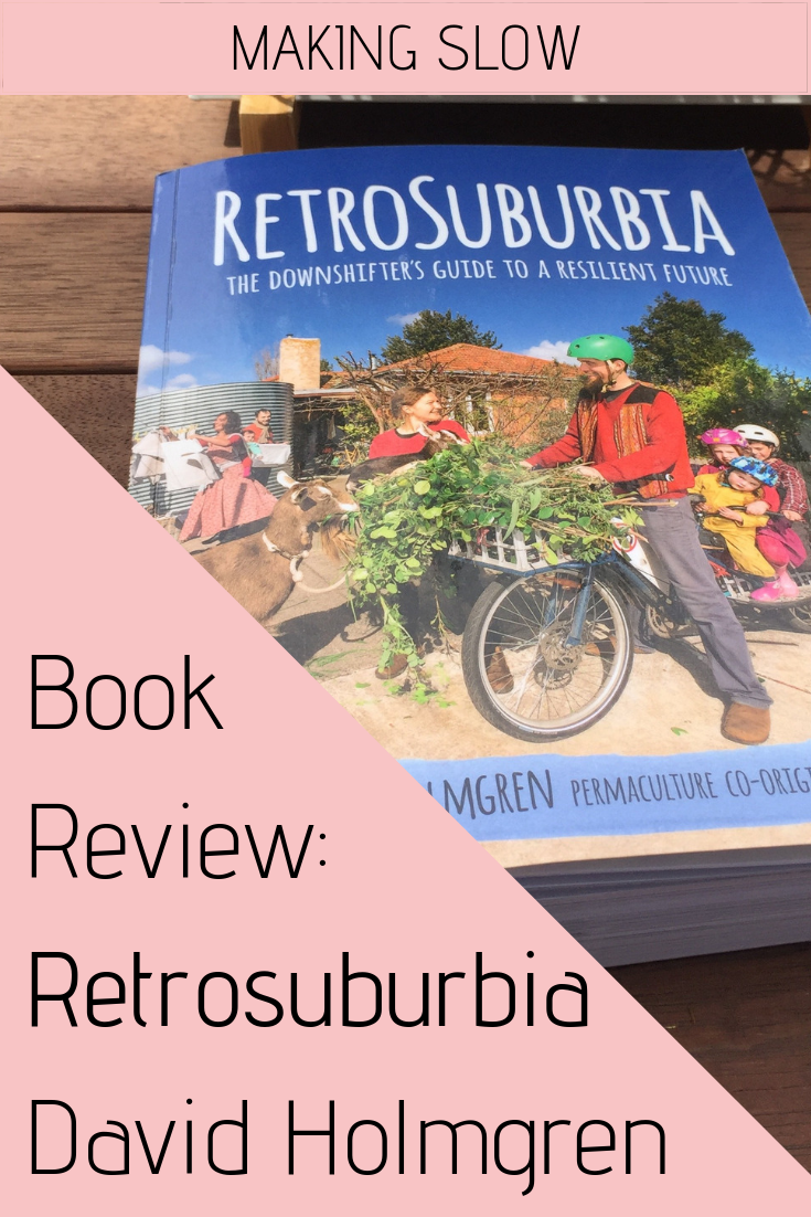 How can you and your family be more resilient? What is downshifting? David Holmgren's Retrosuburbia makes for an empowering read.
