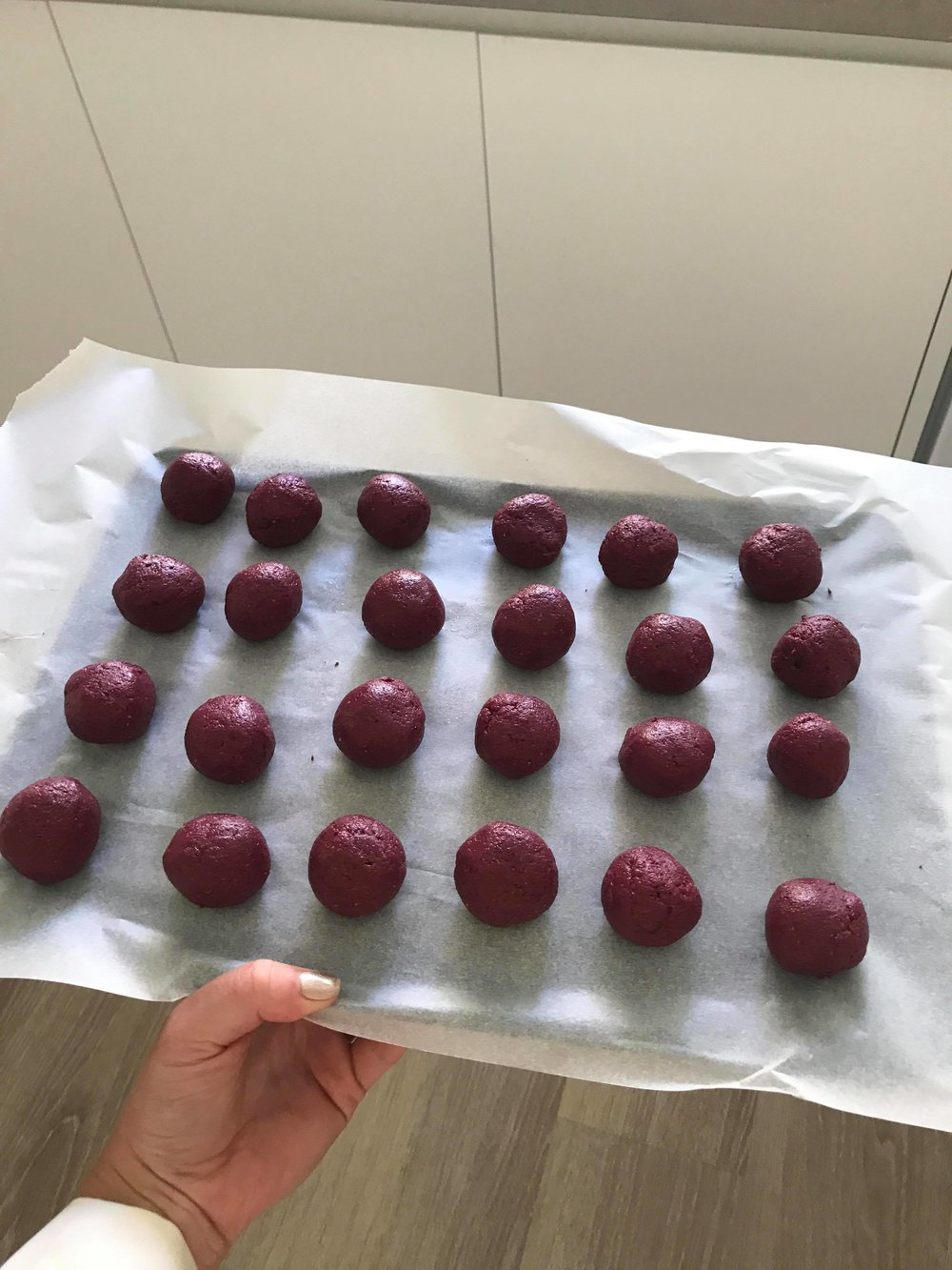 My sister turned them into delicious beetroot snacks.