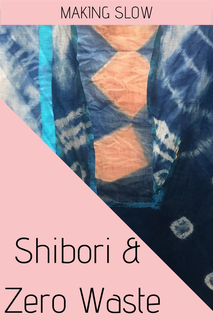 Exploring Shibori and Zero Waste techniques.