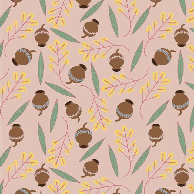 It feels so good to be making again. . . . #surfacedesign #patterndesign #textiledesign #textiles #design #print #fashion #wattle #gumnut #wattleleaf #flowers #nuts #garden #gardeninspired #illustrator #seamlessrepeat #repeatpattern #happiness #play #making #makingslow #cad 1/52