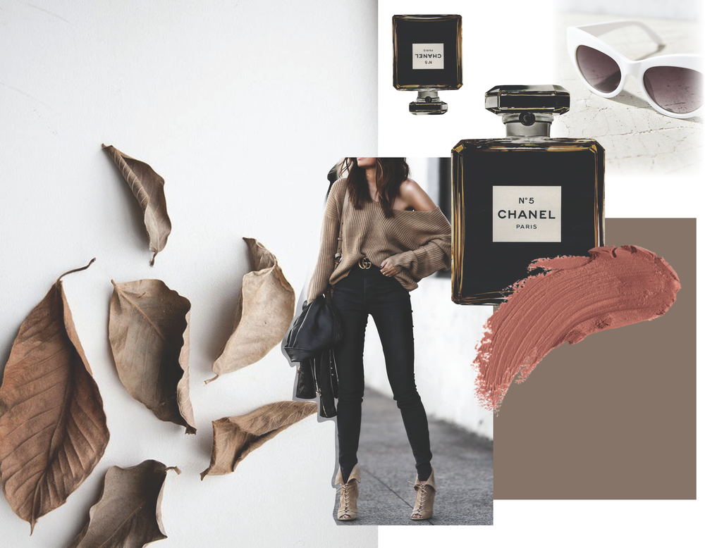 autumn mood - It's that time of year when the leaves start getting crunchier and the air crisper. Cool neutral tones and cropped sweaters are in store. Transitioning out of the golden tones of summer, stick with mauves, taupes, and dark brown during these autumn months!