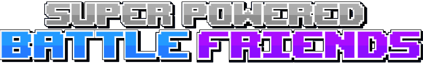 Super Powered Battle Friends Title Logo