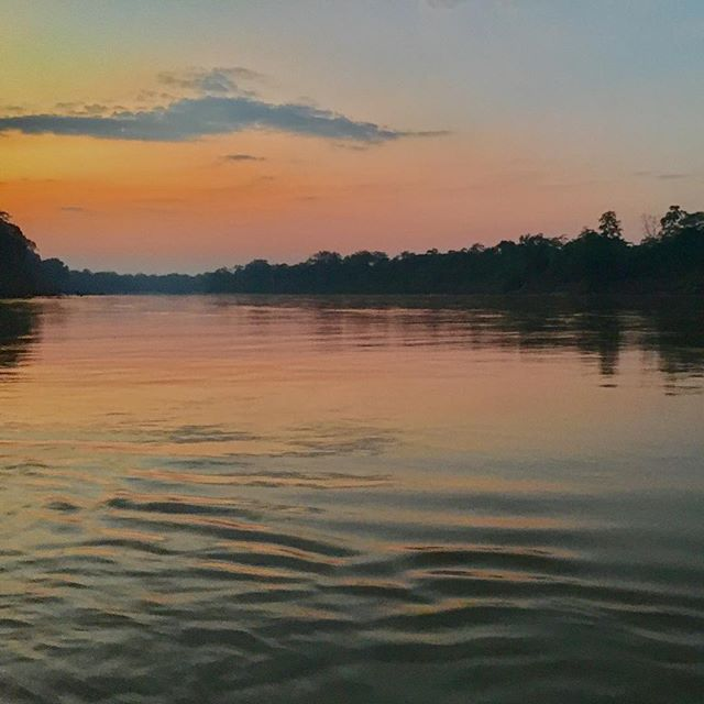 That time I sailed down the Peruvian Amazon at sunset