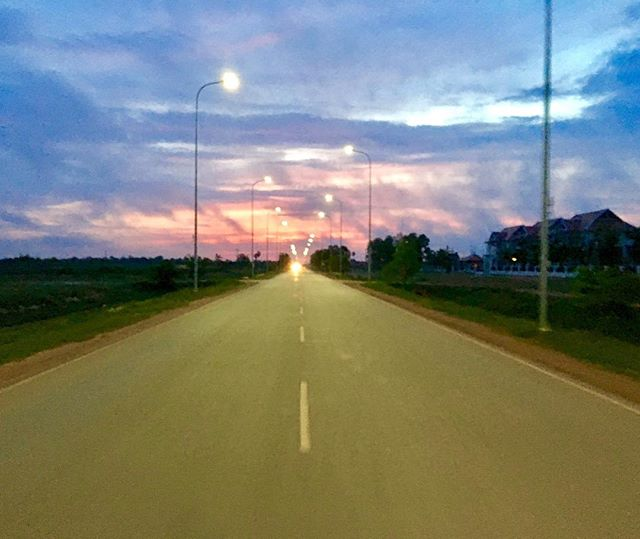 Racing toward Angkor Wat on my motorbike 🏍, trying to catch the sunrise - I realized it's about the journey, not the destination.