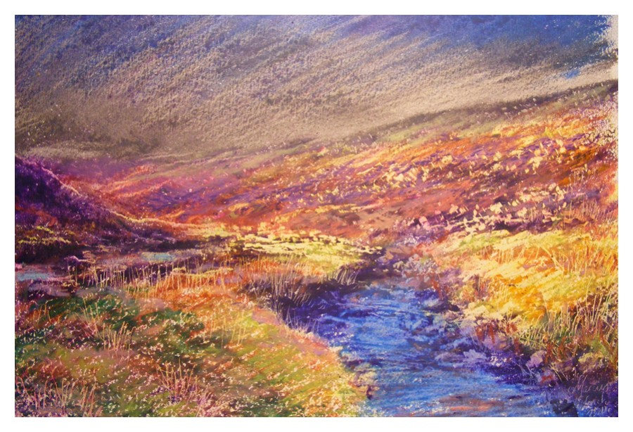 Oil pastel A4 Tavy Cleave  dev .jpg