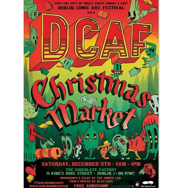 🎺 BIG NEWS 🎺  I will be back in Dublin this December for the #DCAF Christmas Market in the @chocofactorydublin! ☀️Saturday, December 15th☀️ Drop on by and say hi! 🎅 This is my first Irish event with the book. So cool! #LilLukie 💫 💫 💫 #christmasmarket #christmassorted #xmas #childrensbooks #kidslit #childrensbook #comicbook #comicbooks #tinytotofjustice